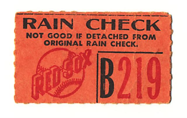 Rain check meaning dating
