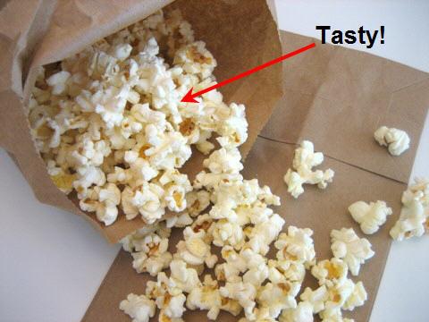Popcorn da microonde fatto in casa!