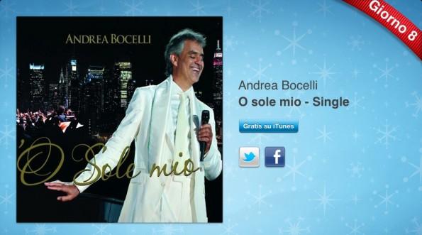 Andrea Bocelli 12 giorni di regali Itunes